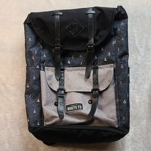 Roots black and Grey backpack
